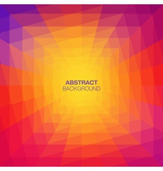 Abstract Colorful Geometric Tunnel Background vector image vector image