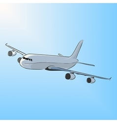 Airplane in the sun vector