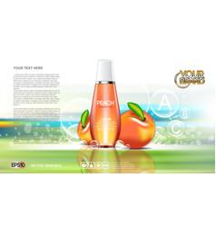 digital red and orange shower gel vector image