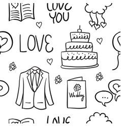 doodle of wedding style vector image