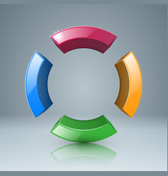 four color circle icon vector image vector image