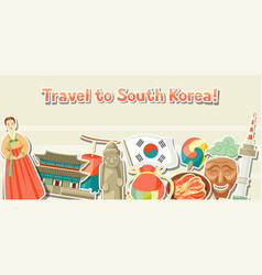korea banner design korean traditional sticker vector image vector image