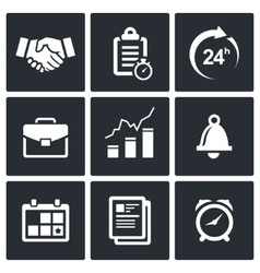 Office business icons set vector