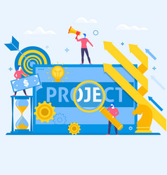 project management business multitasking concept vector image vector image