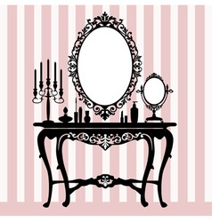 retro dressing console vector image vector image