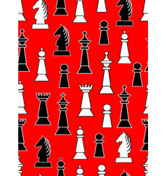 seamless background with black and white chess vector image vector image