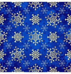 Seamless dark blue christmas pattern vector image vector image