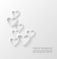 Abstract valentine day background vector image