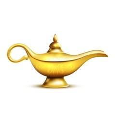 Aladdin Lamp Isolated Icon vector