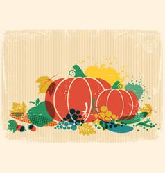 autumn harvest festival thanksgiving autumn old vector image