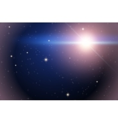 Background of Space with bright star vector image