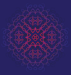 Background with pattern of mandala blue and red vector