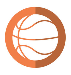 basketball ball play shadow vector image