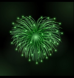 Beautiful heart-firework bright romantic firework vector
