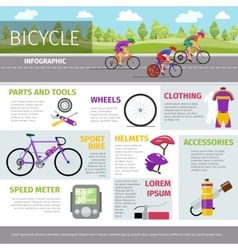 Bicycle infographic template in flat style vector