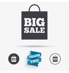 Big sale bag sign icon Special offer symbol vector image