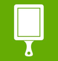 Black cutting board icon green vector