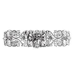 Bracelet is in the form of leaves vintage vector