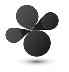Bubble black infographics design vector image