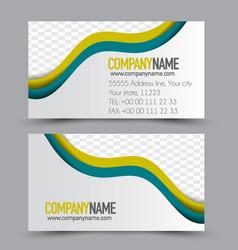 business card design set template vector image