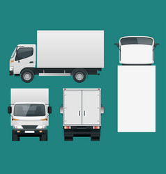 cargo truck transportation fast delivery or vector image