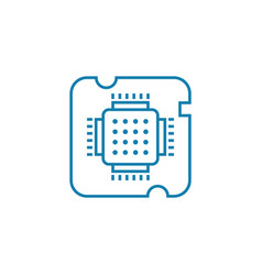 central processing unit linear icon concept vector image