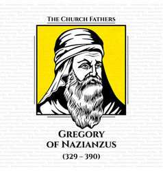 Church fathers gregory nazianzus vector