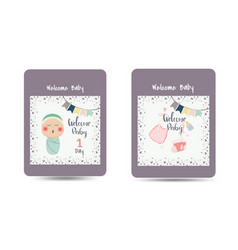 Congratulations new baby card drawnbacard vector
