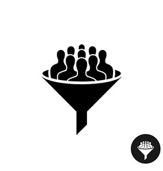 crowdfunding icon crowd people silhouette vector image