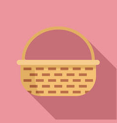 Decoration wicker icon flat style vector