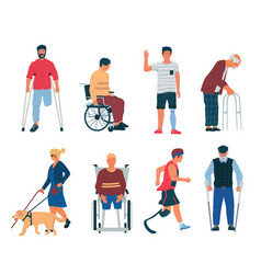 Disabled persons people with disabilities vector