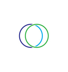 Double circle logo vector