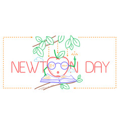 Educational banner newton day vector