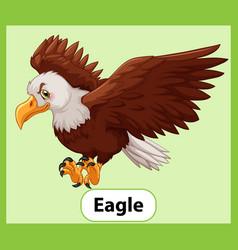Educational english word card eagle vector