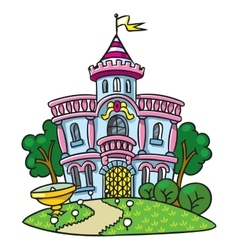 Fairy palace in the beautiful park vector image