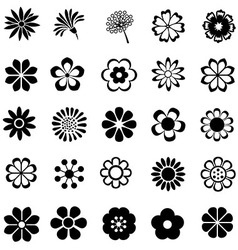flower set icon vector image