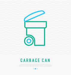 garbage can thin line icon vector image