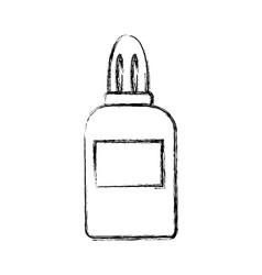 glue bottle utensil school tool icon vector image