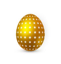 golden easter egg on white background easter egg vector image