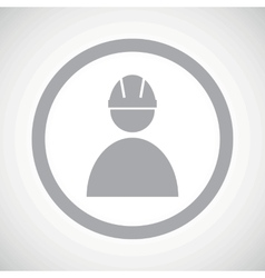 Grey builder sign icon vector