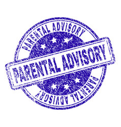 Grunge textured parental advisory stamp seal vector