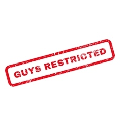 Guys Restricted Text Rubber Stamp vector