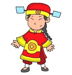 Happy Chinese New Year 2017 Character vector image