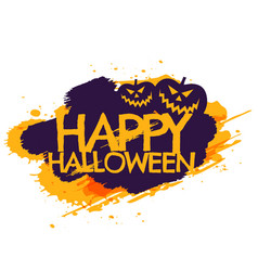 Happy halloween grungy poster vector