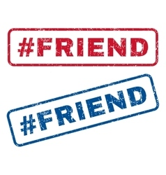 Hashtag Friend Rubber Stamps vector