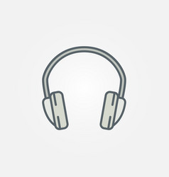 Headphone isolated minimal colorful icon vector