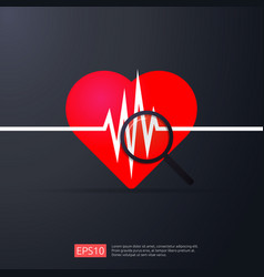 Heart cardiology heartbeat or beat pulse search vector