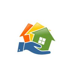 Home marketing logo vector