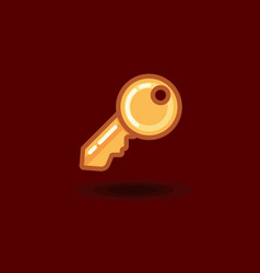 Icon key isolated flat key vector