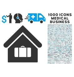 Luggage room icon with 1000 medical business vector